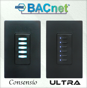 BACnet Consensio and Ultra Wall Switches