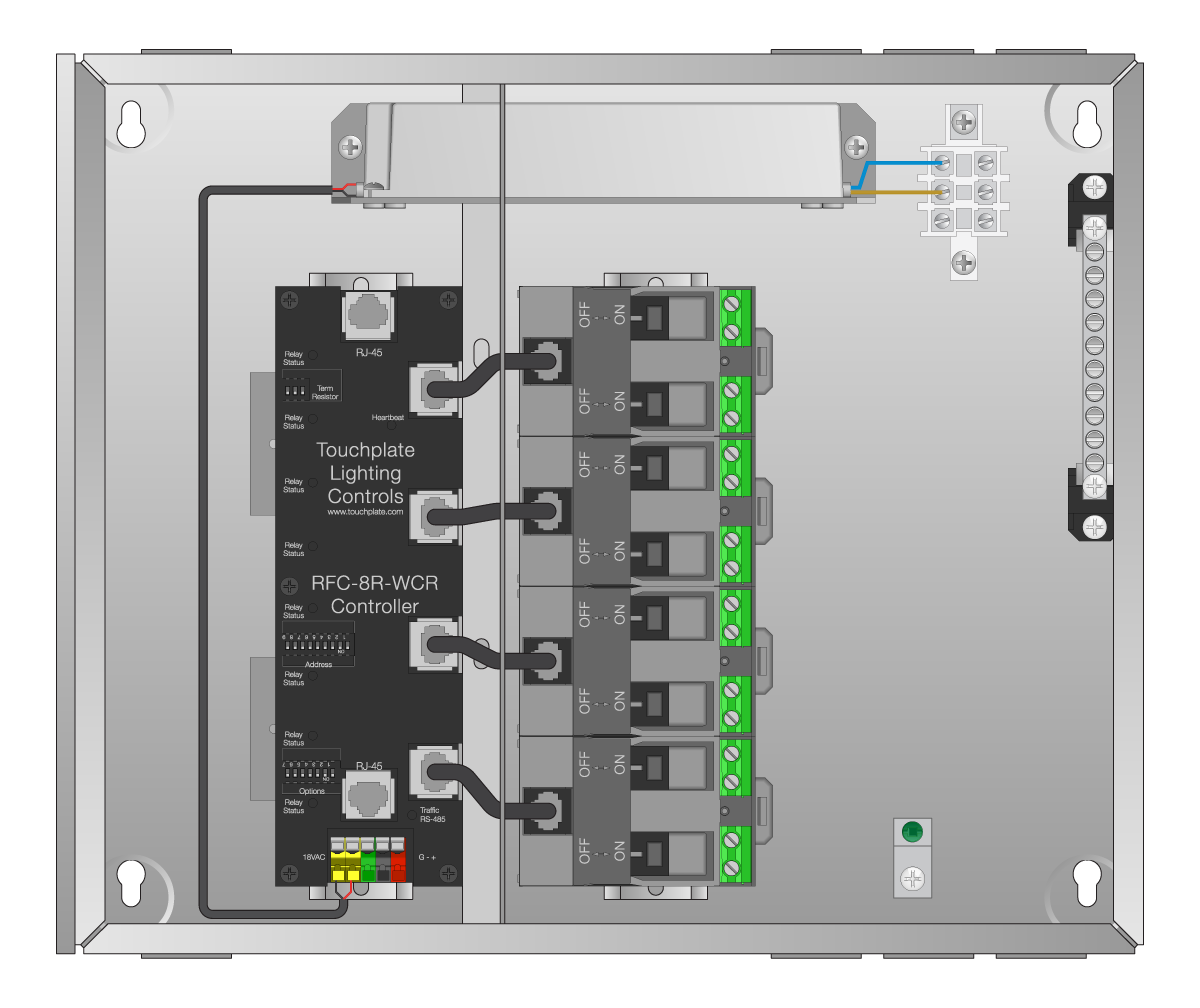 calypso prime relay panels touch plate lighting controls touch Stage Pin Connector calypso prime relay panels