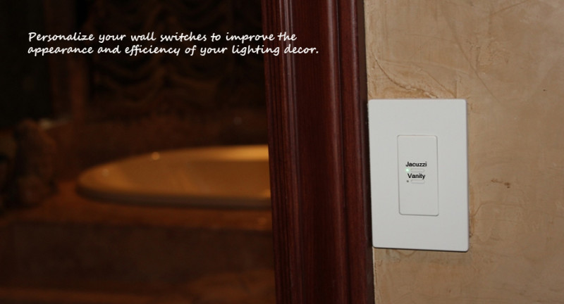 Switch Engraving Touch Plate Lighting Controls Touch Plate