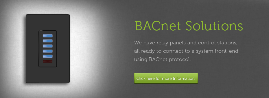 BACnetControl Solutions low voltage bacnet dmx & modbus touch plate lighting controls